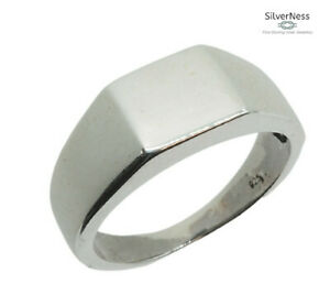 SilverNess Men's Jewellery Signet Ring Sterling Silver 925