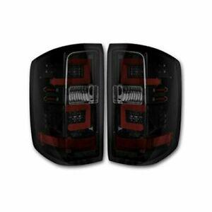 Recon 264238BK LED Tail Light Kit Smoked Lens for 2014-2018 Chevy Silverado 1500