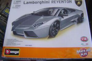 BURAGO Metal Car Kit Lamborghini Reventon 1/18 Scale No Instructions