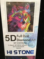 5D Full Drill Diamond Art Kit - Psychedelic Wolf
