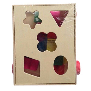 Wooden Sorting Geometric Cube Car Educational