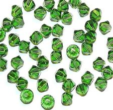 SCB336f FERN GREEN 4mm Xilion (5328) Bicone Genuine Swarovski Crystal Bead 48/pk