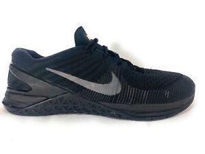 Nike Metcon DSX Flyknit Triple Black Running Shoes 852930-004 mens size 11.5