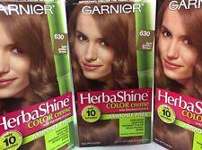 3 X Garnier Herbashine Haircolor Creme ( #630 Light Golden Brown ) AMMONIA FREE