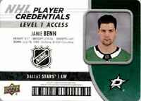2018-19 Upper Deck MVP NHL Player Credentials Jamie Benn #NHL-JB