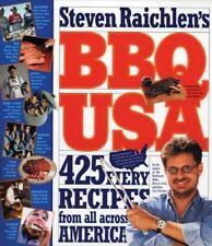 BBQ USA : 425 Fiery Recipes from All Across America by Steven Raichlen (2003, Pa
