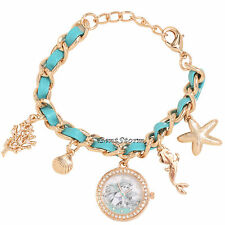 Disney Ariel Little Mermaid Sketch Shell Jewels Charms Bracelet Watch Licensed