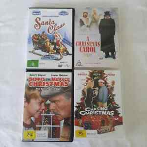 Christmas DVD Lot of 4 Festive Holiday Family Film Movie Collection R4