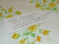 Three piece Queen Flat Sheet and 2 standard pillowcases Daisies Yellow White