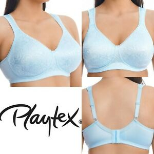 Playtex 18hr Wire Free Ultimate Lift Support Bras Blue  Y1005H 16 18 20 B D E