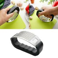 Manual Garlic Press Crusher Squeezer Tool Masher + Steel Bottle Stainless P3L6