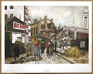 Maurice Utrillo La Maison Bernot Rare Vintage Original1st Ltd Ed 1960 Lithograph