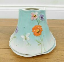 Floral Yankee Candle Shade And Tray (For A Large Jar)