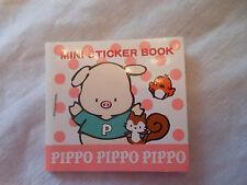 Sanrio Pippo Pig  MINI STICKER BOOK stickers 1989 1995 unused JAPAN