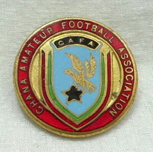 old GHANA FOOTBALL Association PIN Badge Ghanian SOCCER Africa
