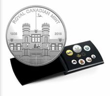 2018 Pure Silver Coloured 6-Coin Set with Medallion