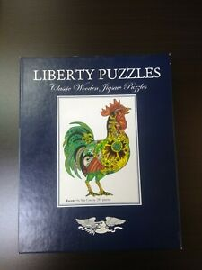 Liberty Puzzles Classic Wooden Jigsaw Puzzle Rooster