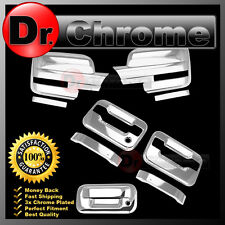 09-14 Ford F150 Chrome Mirror+2 Door Handle+no keypad PSG keyhole+Tailgate Cover