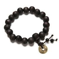 Wood Buddha Buddhist Prayer Beads Tibet Bracelet Mala Bangle Wrist Ornament 3CAU