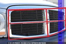 GTG 2004 - 2006 Dodge Durango 4PC Gloss Black Overlay Upper Billet Grille Kit