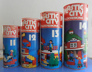 Costruzioni Plastic City Italocremona tubo/bidone/fustino numero 11, 12, 13, 14