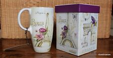 French Lilacs Ceramic Coffee Tea 17oz Cup w/ matching Gift Box Mug Mothers Day