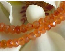 1 strang micro facettierte hell orange karneol rondelle ca. 3mm als strang
