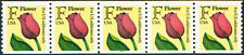 PNC #2518 (29c) Flower #1222  Plate Strip of 5  MNH