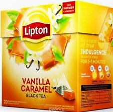 LIPTON Vanilla Caramel tea black with caramel 20 bags