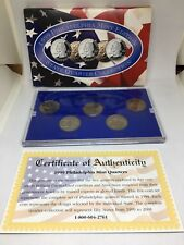 1999 P Philadelphia Mint Edition State Quarter Collection 5 PC Free Shipping
