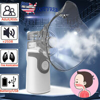 Ultrasonic Portable Nebulize Inhaler Mist Humidifier Machine Kit for Adult Kids