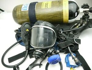 Drager SCBA Air Kit with Mask Navy Sailing AIR BREATHING CYLINDER AIR BOSS USED