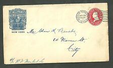 1910 Fidelity Trust Company Cover New York Envelope