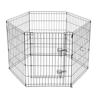 PET PLAY PEN 6 SIDED HEXAGON PANELS 61X76CM Puppy Exercise Cage Encloser Fence