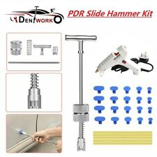 19×Auto Body Paintless Dent Repair Tools Kits Hail Dent Puller Removal Set