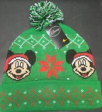 NEW - Disney Santa Mickey Mouse Knit Ski Hat Adult - One Size Fits Most