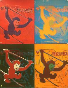Andy Warhol - Four Monkeys 1983 - 1993 - Large Offset Poster