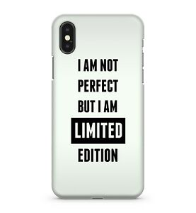 Not Perfect But I Am Limited Edition Funny Witty Humorous Quote Phone Case Cover