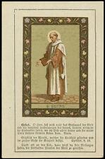 antico santino cromo-holy card S.BRUNO DI COLONIA