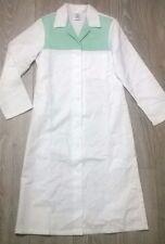 Ladies uniform dress lab coat housekeeper cleaner NHS Size 8-10 white green NEW