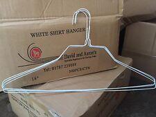 X500 18 Inch White Shirt Hanger 14.5 Gauge
