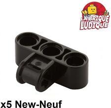 Lego technic - 5x pin axle connector perpendicular triple noir/black 63869 NEUF