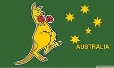 Australia HUGE 8x5 Feet Boxing Kangaroo Flag Canberra Melbourne Australian Flags