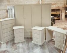 HANDMADE TULIP CREAM 5 PIECE BEDROOM SET