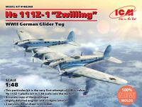 "ICM 48260 - 1/48 He 111Z-1 ""Zwilling"", WWII German Glider Tug Plastic model"