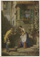 Alte Kunstpostkarte - Carl Spitzweg - Der ewige Hochzeiter - Privatbesitz