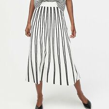 J Crew NWT $128  Pull-On Flare Sweater-Skirt in Textured Stripe | Sz M | Black