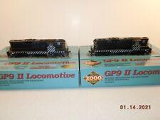 TWO (2) PROTO P2K ATSF HO GP9 Locomotives WITH DCC Zebra Striped Santa Fe