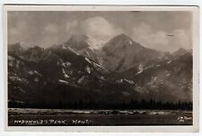 CHINOOK MONTANA RPPC Real Photo Postcard MCDONALD PEAK J W Rode MISSION Mountain