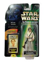 Star Wars Luke Skywalker W/ Blaster Rifle The Power Of The Force 1998 Kenner New
